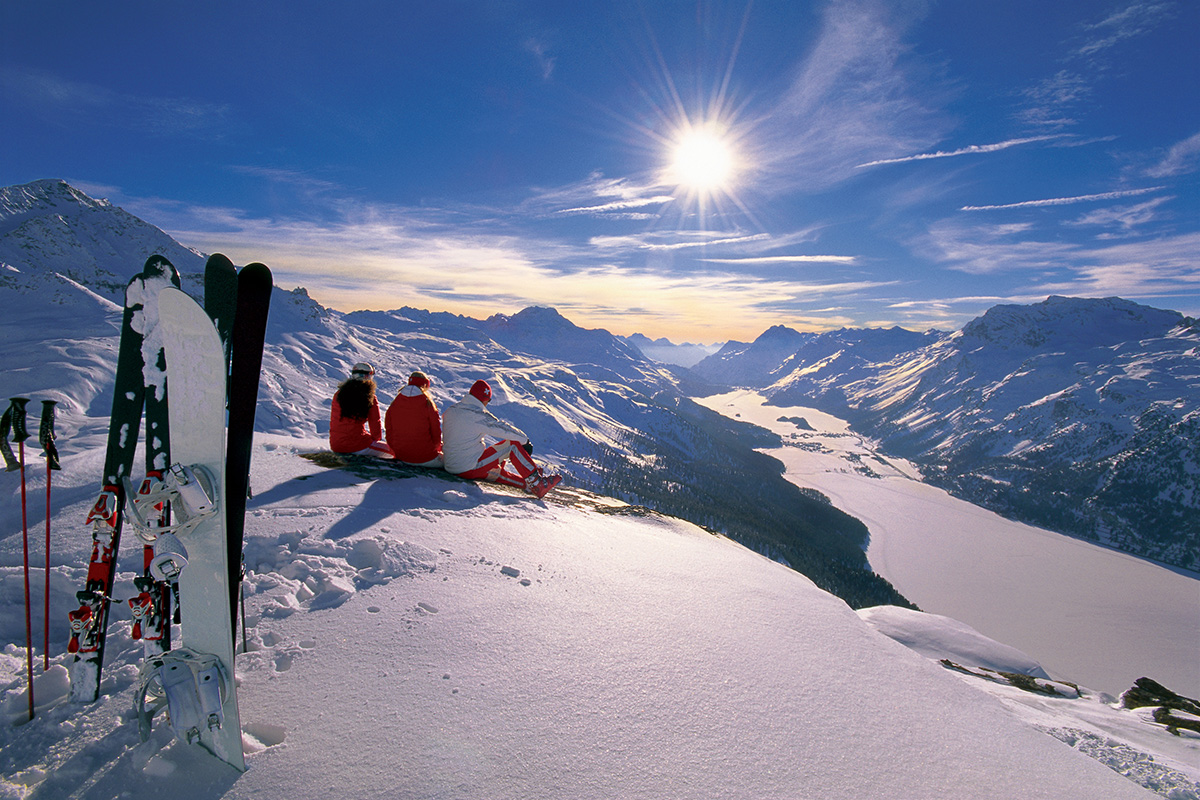 Ski in Switzerland- a view from the slope.