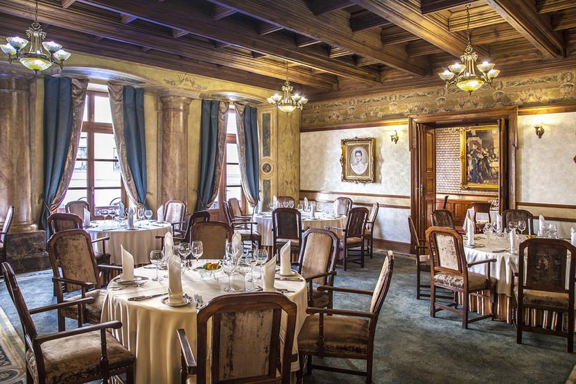 Wierzynek restaurant in Krakow from the inside.